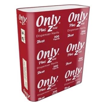Only Plus Z Katlı Havlu 22 x 23 cm 12'li Paket