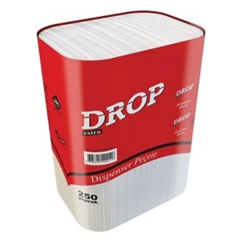 Drop Dispenser Peçete 250 Yaprak 23 cm x 21 cm 18'li