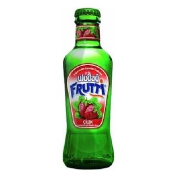 Uludağ Frutti Çilekli Soda 200 ml 24'lü Paket