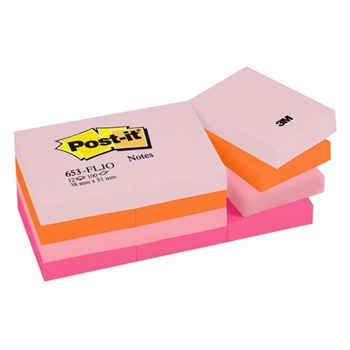 3M Post-it 653-FLJO Yapışkanlı Not Kağıdı 38 mm x 51 mm Pastel Tonları 4 Renk x 3 Blok 100 Yaprak
