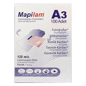 Mapilam A3 125 Micron Laminasyon Filmi 100'lü Paket