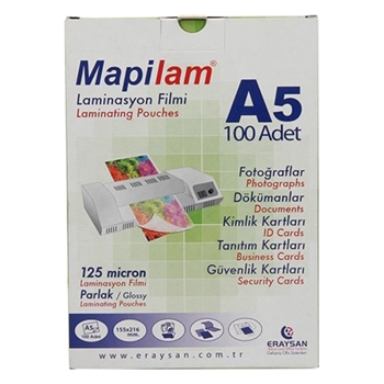 Mapilam A5 125 Micron Laminasyon Filmi 100'lü Paket