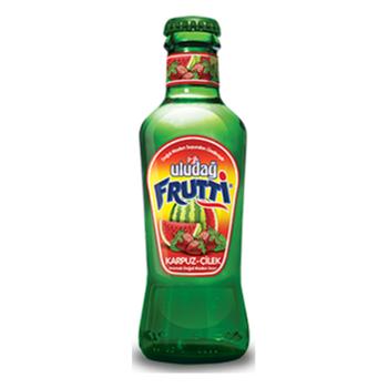 Uludağ Cam Şişe Karpuz Çilek Meyveli Soda 200 Ml 24'lü