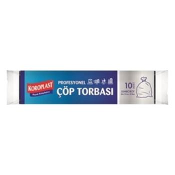 Koroplast Çöp Torbası Premium Jumbo 80 cm x 110 cm 10'lu Rulo