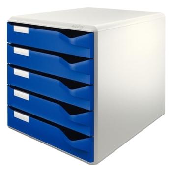 Leitz 5280 Evrak Rafı 5 Çekmeceli Mavi