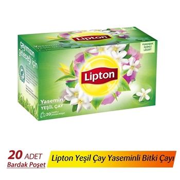 Lipton Bardak Poşet Bitki Çayı Yeşil Çay Berrak Yasemin 20'li