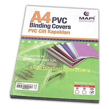 Mapi Pvc A4 Opak 160 Micron Cilt Kapağı Mavi 100'lü