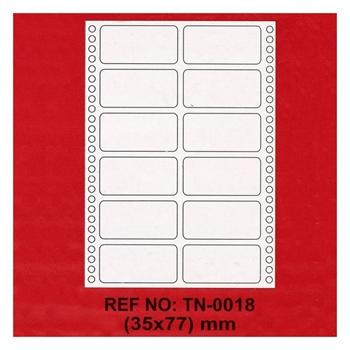 Tanex TN-0018 Sürekli Form ve Bilgisayar Etiketi 35 x 77 mm