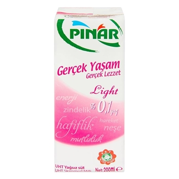 Pınar Light Süt 200 ml 27'li Paket