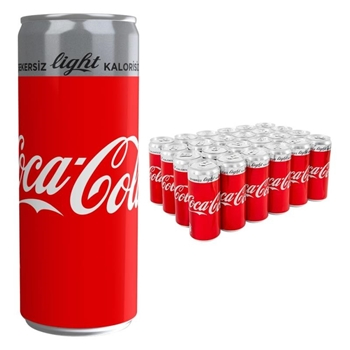 Coca-Cola Light Kutu 250 ml 24'lü Paket