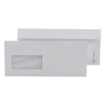 Doğan Pencereli Diplomat Zarf 105 mm x 240 mm 110 gr Beyaz 500 Adet