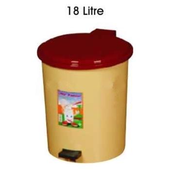 Plastik Pedallı Çöp Kovası 18 lt