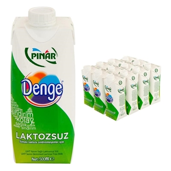 Pınar Denge Laktozsuz Süt 500 ml 12'li Paket