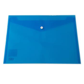 Kraf 1209 Çıtçıtlı A4 Dosya Mavi 12'li Paket