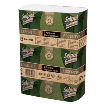 Selpak Professional Essential Z Katlı Geri DönüşümlüDispenser Havlu 250 Yaprak 20'li Paket