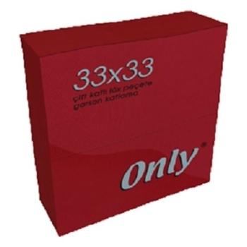 Only Kenar Bordürlü Kırmızı Peçete 33 cm x 33 cm