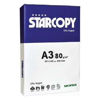Starcopy A3 Fotokopi Kağıdı 80 gr 500 Yaprak
