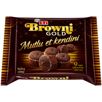 Eti Browni Gold Mini Kek Kakaolu 180 gr 9'lu
