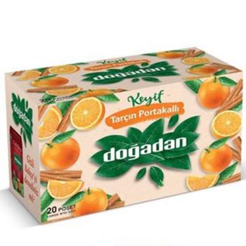 Doğadan Bardak Poşet Bitki Çayı Tarçın Portakal 20'li