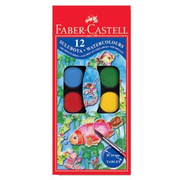 Faber Castell Küçük Boy Sulu Boya 12 Renk