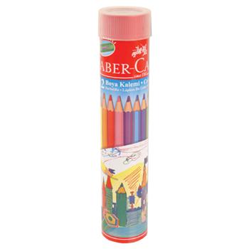 Faber Castell Red Line Metal Tüp Kutu Tam Boy Kuru Boya Kalemi 12 Renk