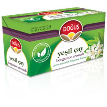 Doğuş Yeşil Çay Bergamot Aromalı 20'li