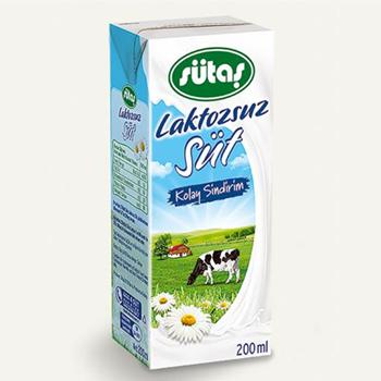 Sütaş Laktozsuz Süt 200 ml 27'li Paket