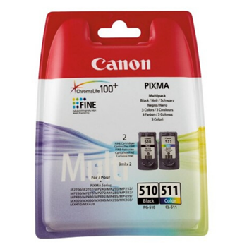Canon PG-510 Siyah - CL-511 Renkli Kartuş
