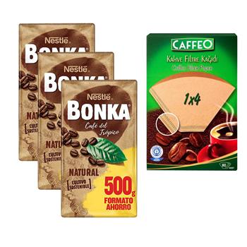 Nestle Bonka Filtre Kahve Caffeo 1x4  Filtre Kağıdı Hediyeli