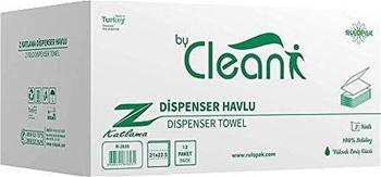 Clean R-2635 Z Katlı Havlu 12li
