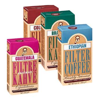 Mehmet Efendi Filtre Kahve 250 gr  4'lü  Colombian - Brezilian - Ethiopian - Guatemala