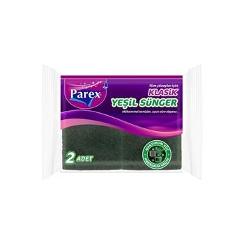 Parex Klasik Bulaşık Süngeri 2'li Yeşil