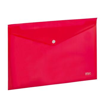 Kraf 1209 Çıtçıtlı A4 Dosya Kırmızı 12'li Paket