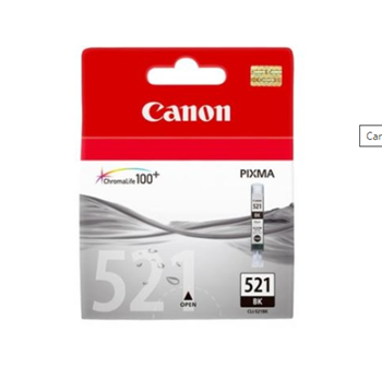 Canon CLI521BK Kartuş İp3600/4600 Mp540/620/630/980 Siyah