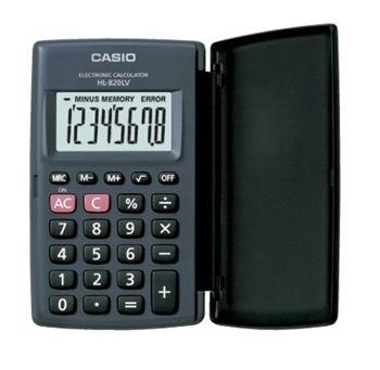 Casio HL-820LV-BK Cep Tipi Hesap Makinesi 8 Hane Siyah