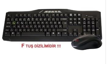Elba EC 266 F Kablosuz Klavye Mouse Set  Siyah