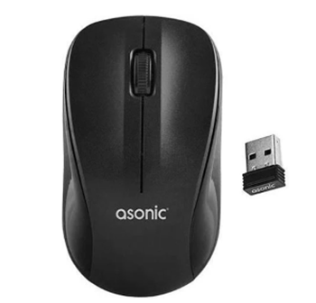 Asonic AS-WM5 Mouse Kablosuz Usb Optik Siyah