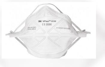 3M 9152 FFP2 NR D VFlex Solunum, Toz Maskesi (Sertifikalı)