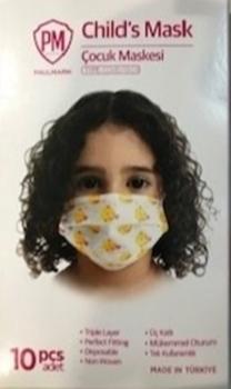 Kız Çocuk Maskesi 3 Katlı 10'lu (Sertifikalı)