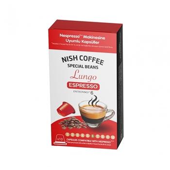 Nespresso Uyumlu Nish Lungo Kapsül Kahve 10'lu