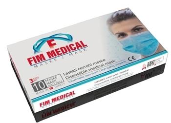Fim Medical Meltblown Cerrahi Maske 10'lu  3 Katlı Telli (Sertifikalı-Özel Ürün)