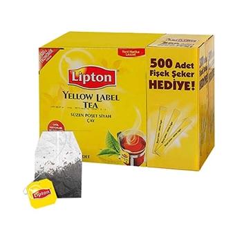 Lipton Yellow Label Bardak Poşet Çay 500'lü - Fişek Şeker Hediyeli 500 Adet