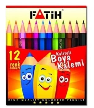 Fatih 33012 Kuru Boya Kalemi 1/2 Boy 12 Renk
