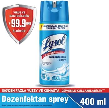 Lysol Temizliğin Esintisi 400 ml Sprey Yüzey Dezenfektanı