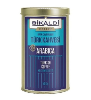 Bikaldi Kahve Dünyası Teneke Kutu Türk Kahvesi 500 gr