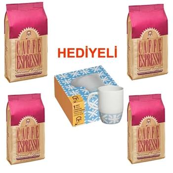 Mehmet Efendi Cafe Espresso (Öğütülmüş) 250 gr 4'lü (Kupa Hediyeli)