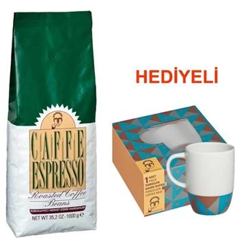 Mehmet Efendi Espresso Çekirdek Kahve 1000 gr (Kupa Hediyeli)
