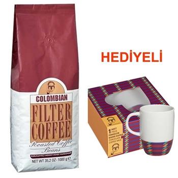 Mehmet Efendi Colombian Çekirdek Kahve 1000 gr (Kupa Hediyeli)