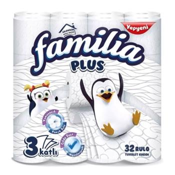 Familia Plus 3 Katlı 32 Rulo Tuvalet Kağıdı