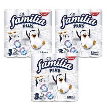 Familia Plus 3 Katlı 32 Rulo Tuvalet Kağıdı 3'lü